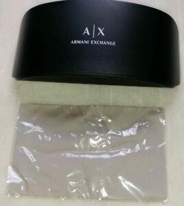 Armani-Exchange-A-X-Hard-Sunglasses-Glasses-Case-Black-Clam-Shell-Clamshell