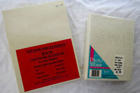 3 Canvas Covered Books - Address & Photo To Paint