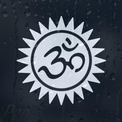 Aum Om Hindu Symbol Ohm Car Or Laptop Decal Vinyl Sticker For Window