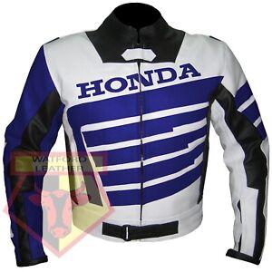HONDA-9019-BLUE-MOTORBIKE-MOTORCYCLE-BIKERS-COWHIDE-LEATHER-ARMOURED-JACKET