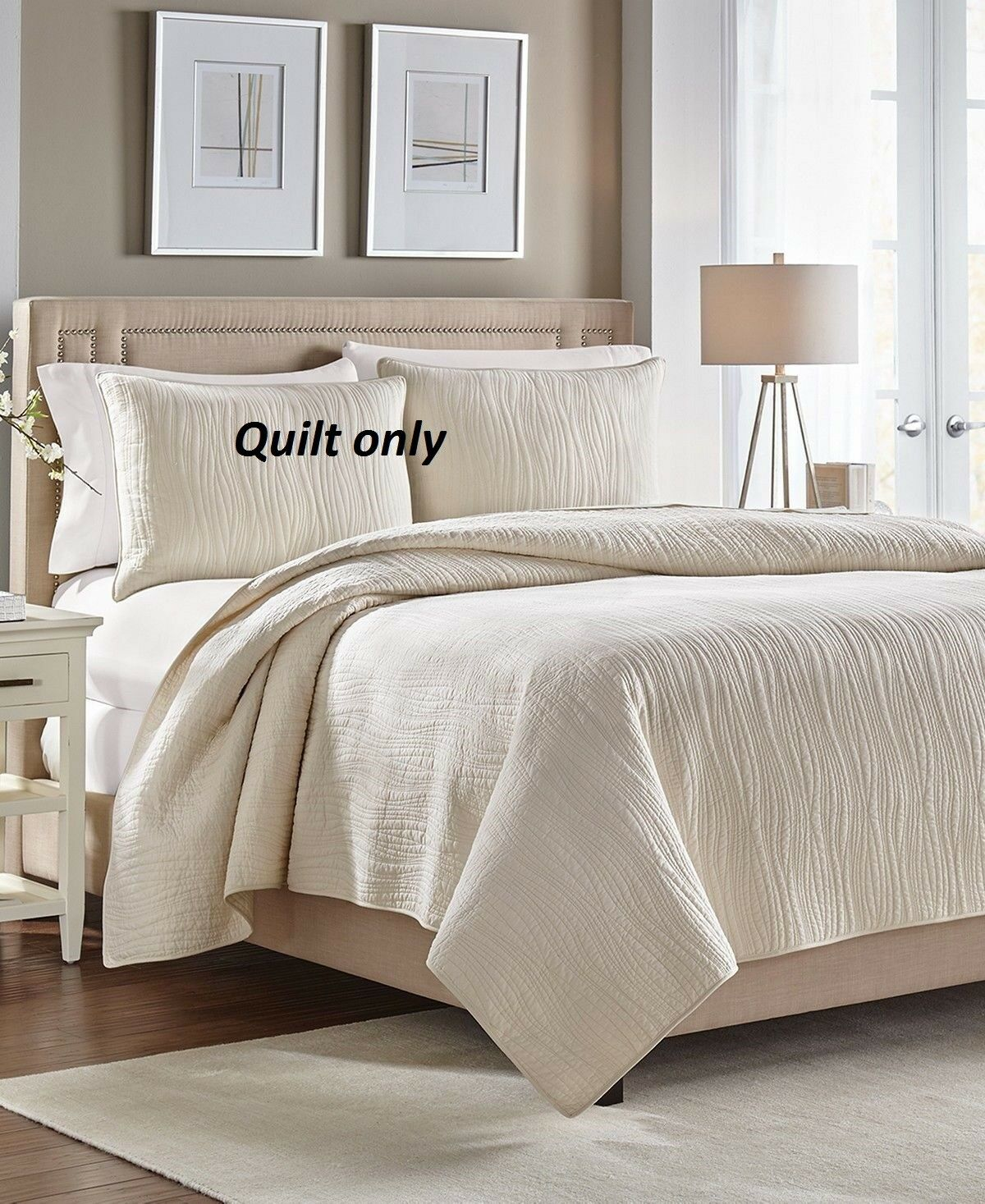 Croscill Ivory Heatherly Quilt  FULL   QUEEN