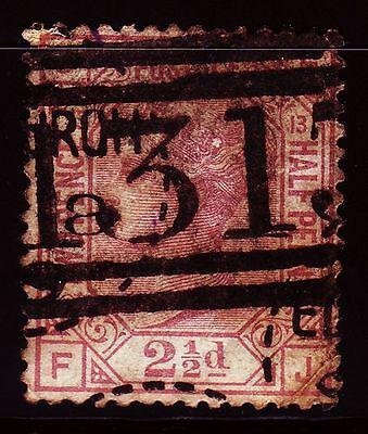 sq3681 Great Britain 1876 Sg 141 Qv 2½d Rosy Mauve Good Used Plate 13 F-j KöStlich Im Geschmack
