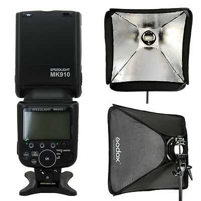 Meike 910 TTL Master HSS GN60 Flash Speedlight for Nikon as SB-910 60cm softbox