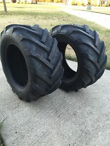 2 New Deestone 6 Ply Superlug Lawn Mower Garden Tractor Tires