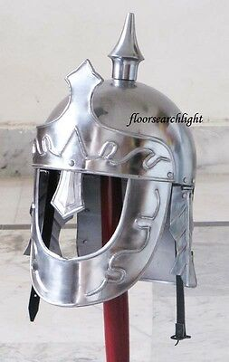 MEDIEVAL ANCIENT ROMAN KING ARMOUR HELMET  - RE-ENACTMENT LARP ROLE PLAY COSTUME