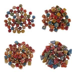 6mm 50x Flower Glaze Ceramics Spacer Beads for DIY Jewelry Accessories DesigCYN