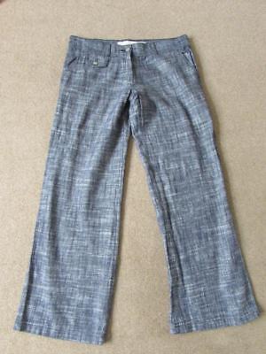 Ex High Street Store Womens Parallel Leg Linen Blend Trousers Size 6-18 Next Day