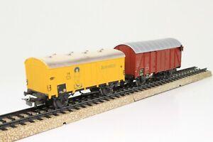 2-x-Marklin-4509-4506-h0-bananes-Voiture-Jamaique-couvert-wagons
