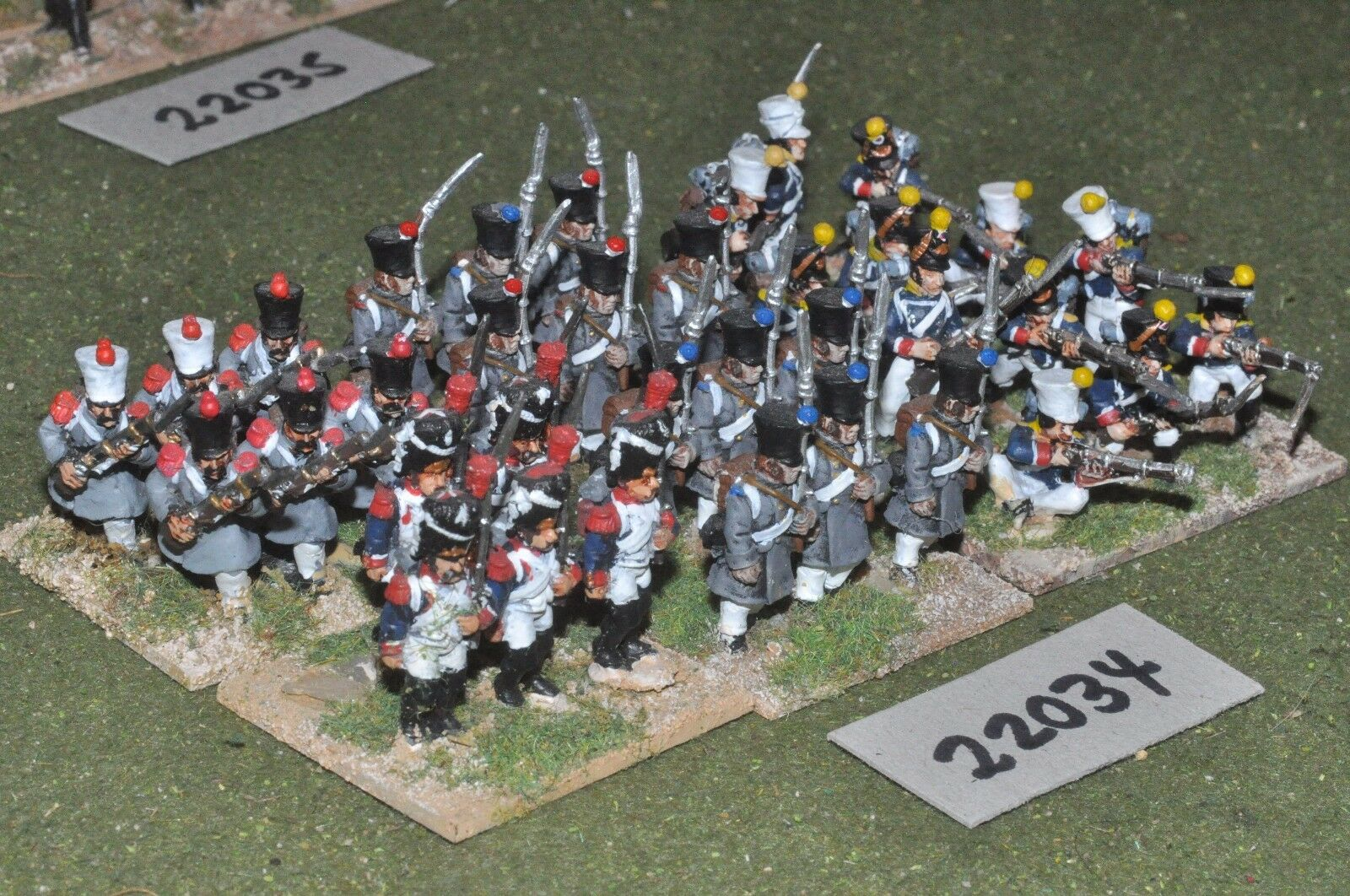 25mm napoleonic   french - line 35 figs infantry - inf (22034)