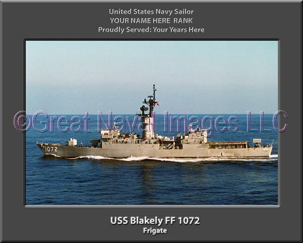 USS Blakely FF 1072 Personalized Canvas Ship Photo Print Navy Veteran Gift