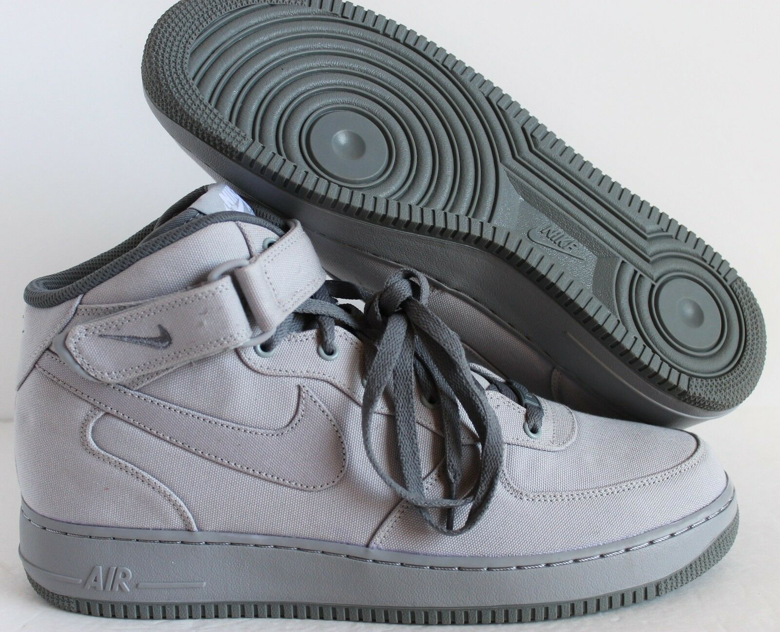 Nike Men Air Force 1 Mid ID Grey/Grey Price reduction