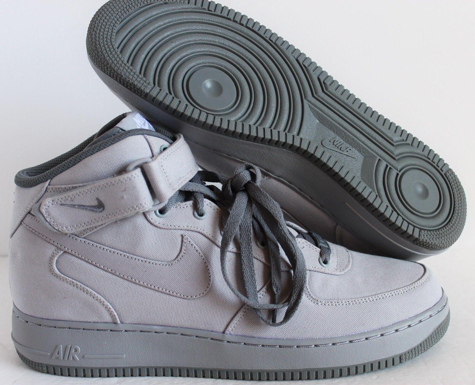 Nike Uomo Air Force 1 Mid ID 13 Grey/Grey sz 13 ID  [808788-997] 3a0d16