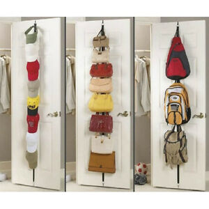 Storage-Save-Space-Over-Door-Straps-Hanger-Holder-for-Clothes-Bag-Hat-7Hook-G6O