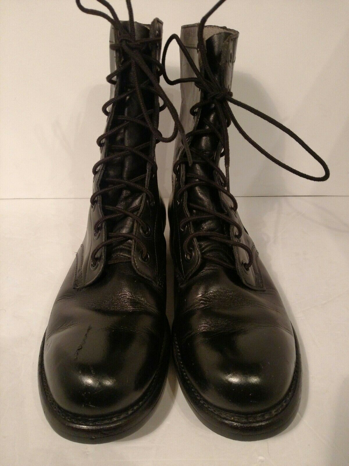 Panco 8-60 Vintage Leather Military Boots Size 8R