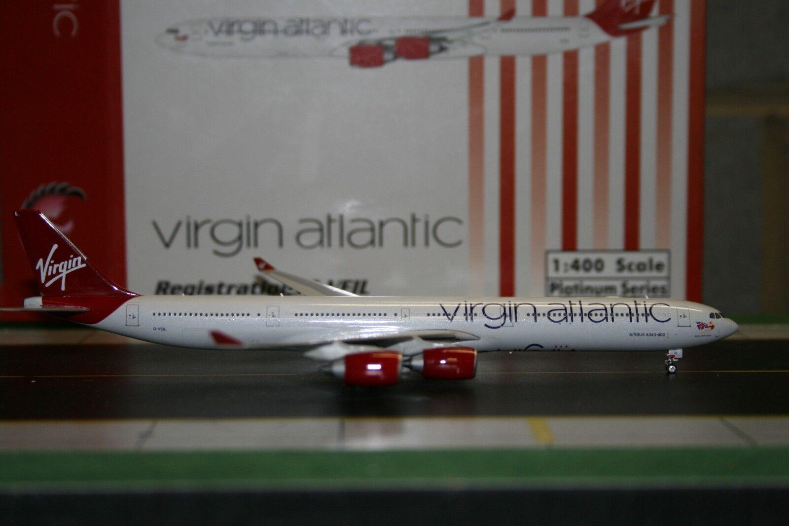 Phoenix 1 400 Virgin Atlantic Airbus A340-600 G-VEIL (PH4VIR781) Die-Cast Model