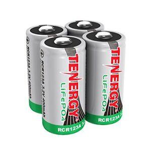 4X-Tenergy-RCR123A-3-0V-3-2V-400mAh-LiFePO4-Rechargeable-Batteries-Cells-LiFePO4