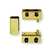 H17255-bp Brass Plate Glass Door Pivot Hinge Set W/ Door Strike