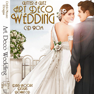 1 x Debbi Moore Designs Glitter & Glitz Art Deco Wedding Double CD Rom (292674)