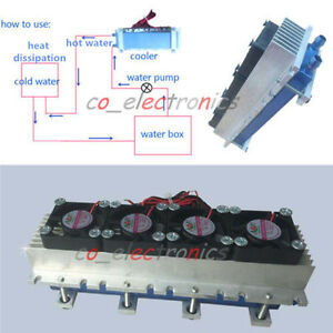 Image Is Loading Quad Core Thermoelectric Peltier Air Radiator 4 TEC1
