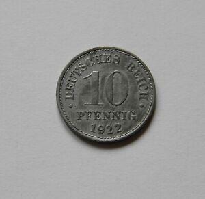 Ersatzmünzen: 10 Peniques 1922E, J. 298 , Excelente, Raro