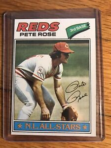 1977 TOPPS BASEBALL #450 PETE ROSE REDS CARD NM CONDITION