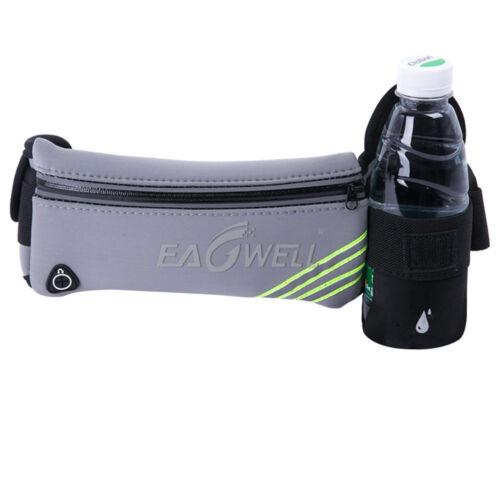 Sport Hiking Running Belt Waist Pouch Fanny Pack Camping Zip Bag Bottle Holder