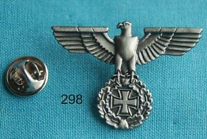 Reichsadler-Lorbeerkranz-EK-Military-Pin-Button-Badge-Anstecker-Sticker-298