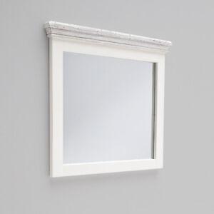 Details zu Spiegel Opus Wandspiegel Garderobenspiegel Kiefer massiv weiß  Vintage 80 cm