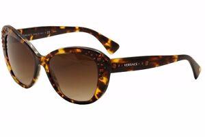 7864a6d47 Versace VE4309 (5148/13) Bejeweled Havana Cateye 57mm Sunglasses | eBay