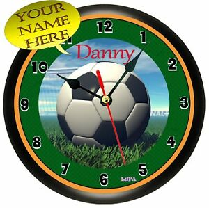 Personalized Soccer Ball Wall Clock Ebay