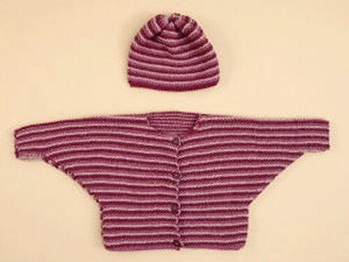 Knitting Pattern -Baby//Toddler Set 3 sizes BatwingCardigan /& Hat PO091