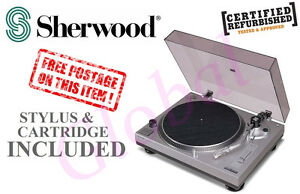 SHERWOOD-33-45-RPM-MANUAL-PHONOGRAPH-TURNTABLE-RECORD-PLAYER-PM9805-RFB