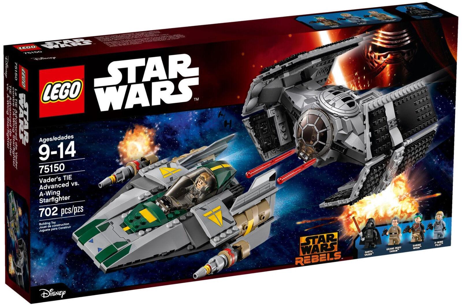Lego Star Wars - 75150 Vader's tie Advanced vs. a-Wing Starfighter-nuevo & OVP