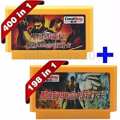 400 in 1&198 in 1 2PCS 8 Bit FC NES Game Cartridge Classical video Game Cards