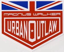 2 x Magnus Walker Urban Outlaw Pegatina, ORIGINAL Carreras, British Flag