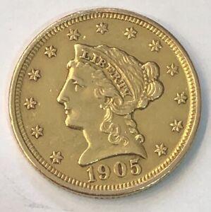 1905 2 1 Quarter Gold Coin Ebay