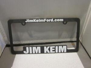 Jim Keim Ford >> Details About Jim Keim Ford Dealer License Plate Frame Plastic Man Cave Black