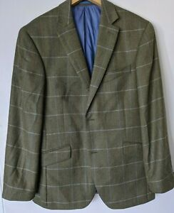 Austin Reed Green Wool Single Breasted Padded Jacket Size 40s Ebay