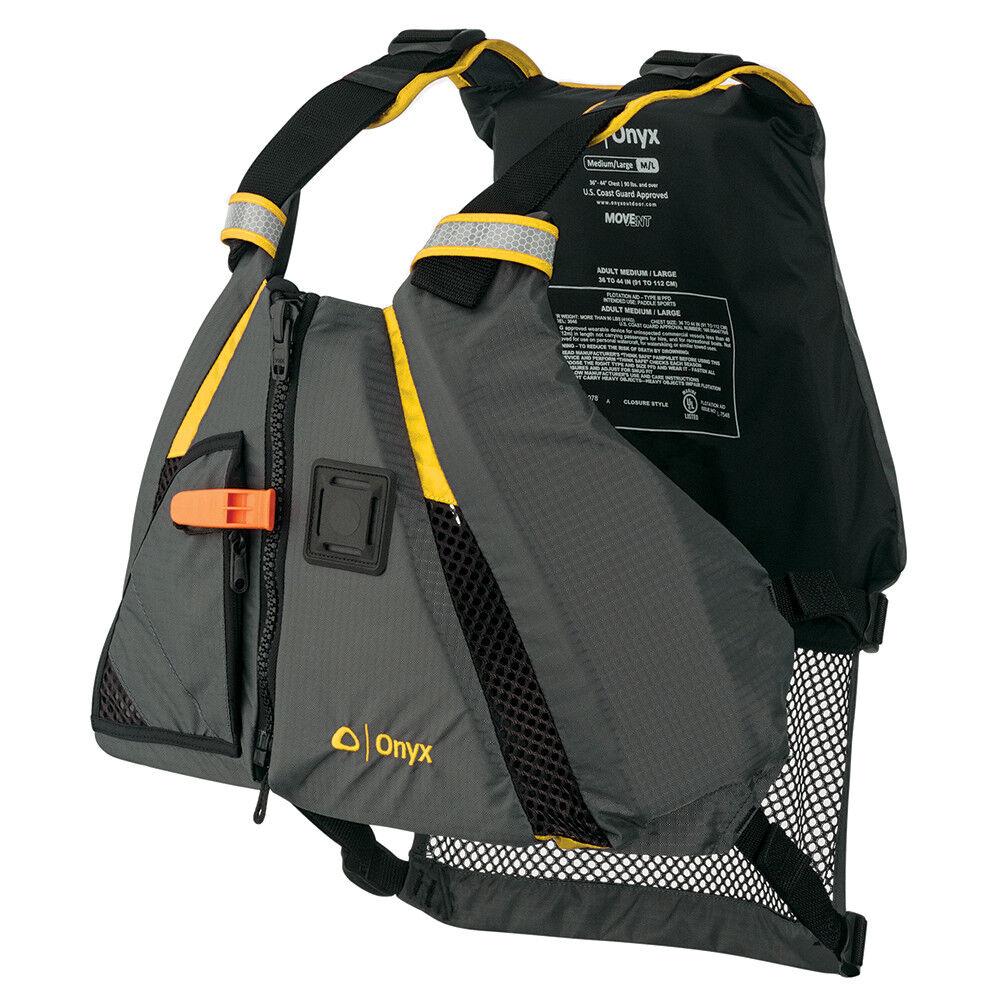 Onyx Movement Dynamic Paddle Sports Vest - Yellow Grey - XS Small