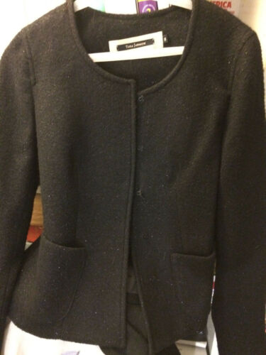 Black 4 Coat Jacket Wool M Boucle Top S 6 Miu Tara 38 Blazer Jarmon Paris Aq1x8S