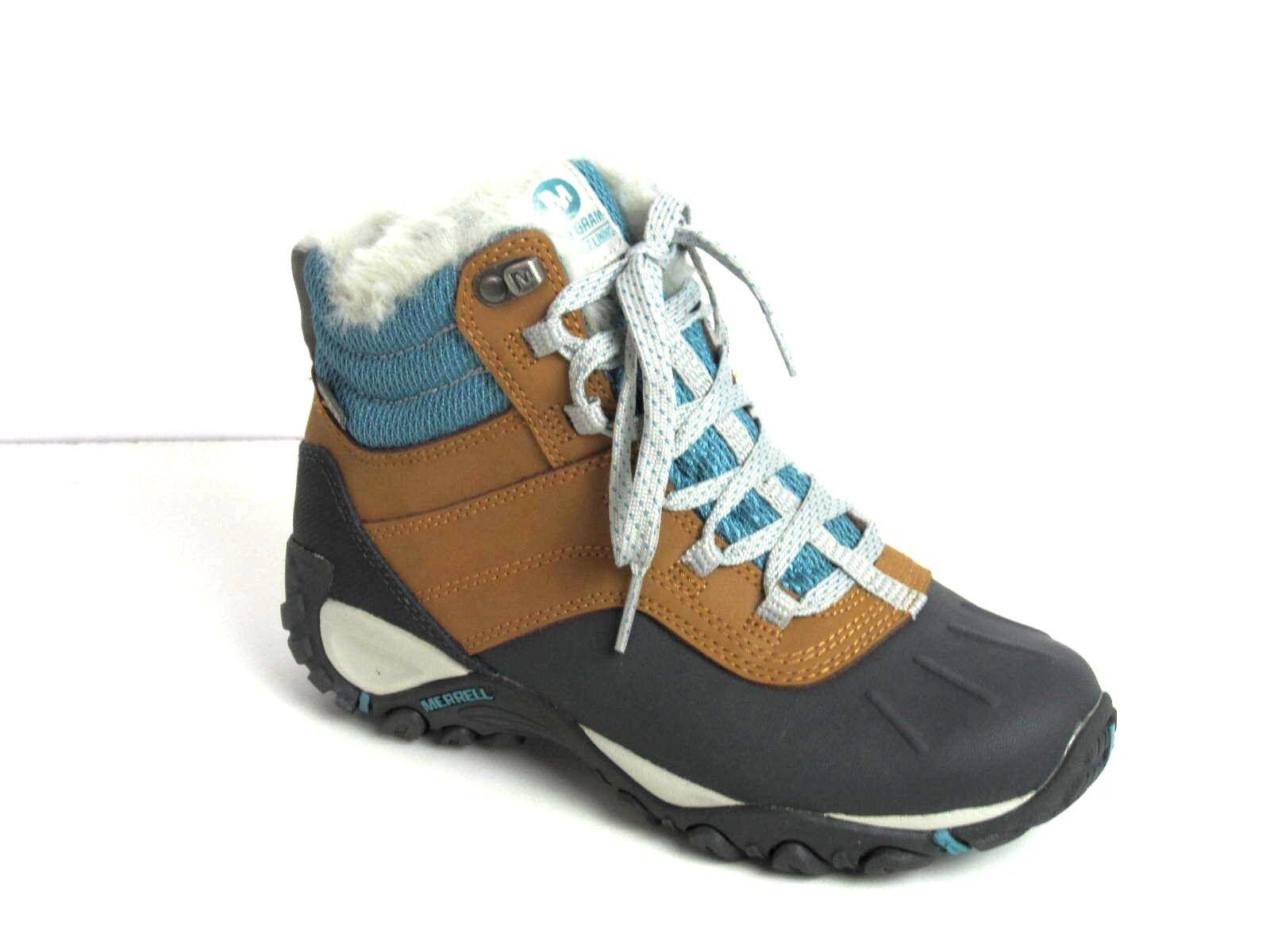 Merrell Atmost Mid WTPF Womens Brown sugar/Ice  Boots Sz 5.5 M