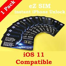 Ez Sim Unlock iPhone 7 6S 6 5S 5 Plus  LTE iOS 11 READY GPP Unlocking CHIP
