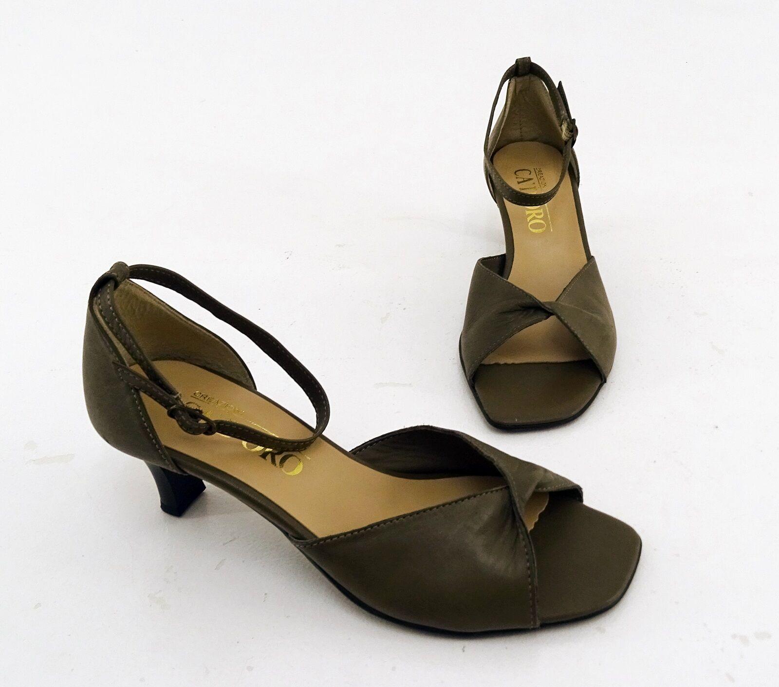 Salón creazioni Ca 'd' oro oro oro sandalias de cuero genuino Olive talla 37  compra en línea hoy