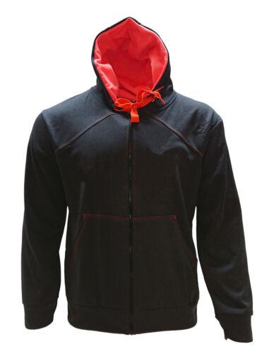 Men/'s Gray Fleece Polyester Work Construction Safety Pullover Full-Zipper Hoodie