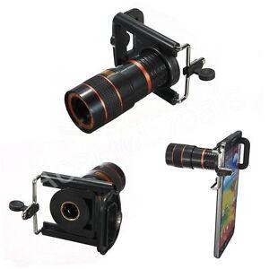 8x zoom optical lens telescope + universal holder for
