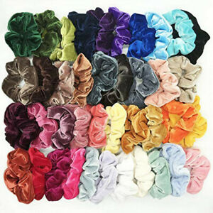 10-100-Pack-Hair-Scrunchies-Velvet-Scrunchy-Bobbles-Elastic-Hair-Band-Holder-Lot