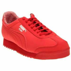 Puma-Roma-Non-Marking-Junior-Sneakers-Casual-Sneakers-Red-Boys-Size-1-M