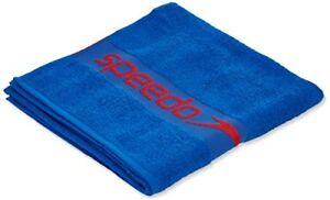 Speedo-Unisex-Border-Towel-Blue-Red-One-Size