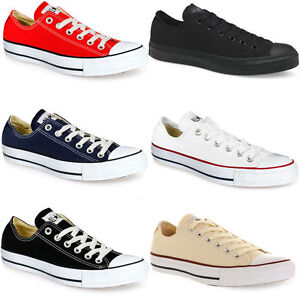 CONVERSE lo TOP linea donna uomo Unisex All Star Low Top Chuck Taylor sneakers