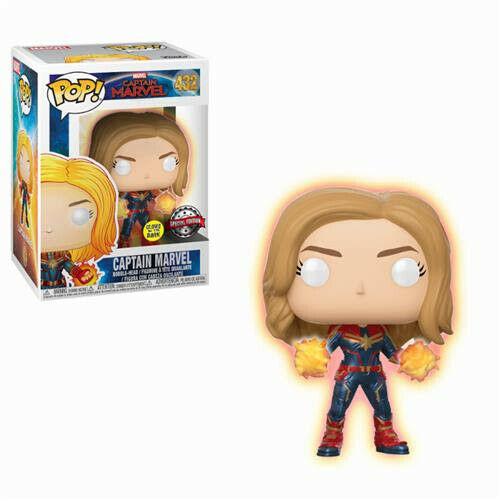 Funko POP Movies 432 - Marvel - Captain Marvel - Carol Denvers Special Ed. GID